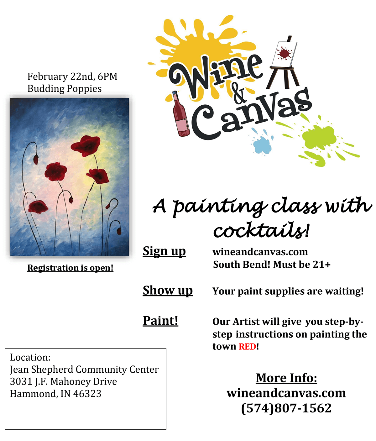 """Wine & Canvas"" Returns to Hammond in February"
