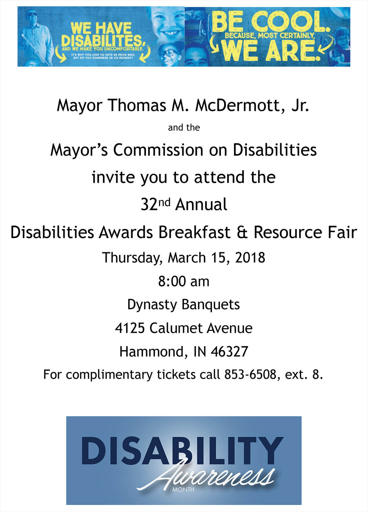 32nd Annual Disabilities Awards Breakfast