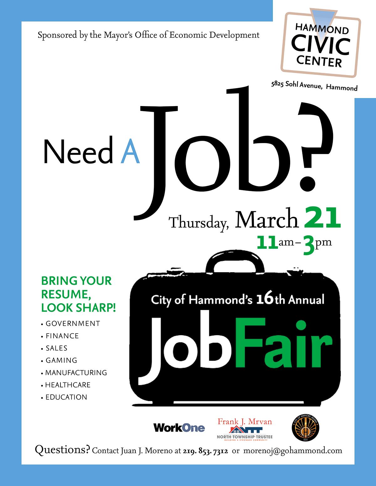 16th Annual Hammond Job Fair