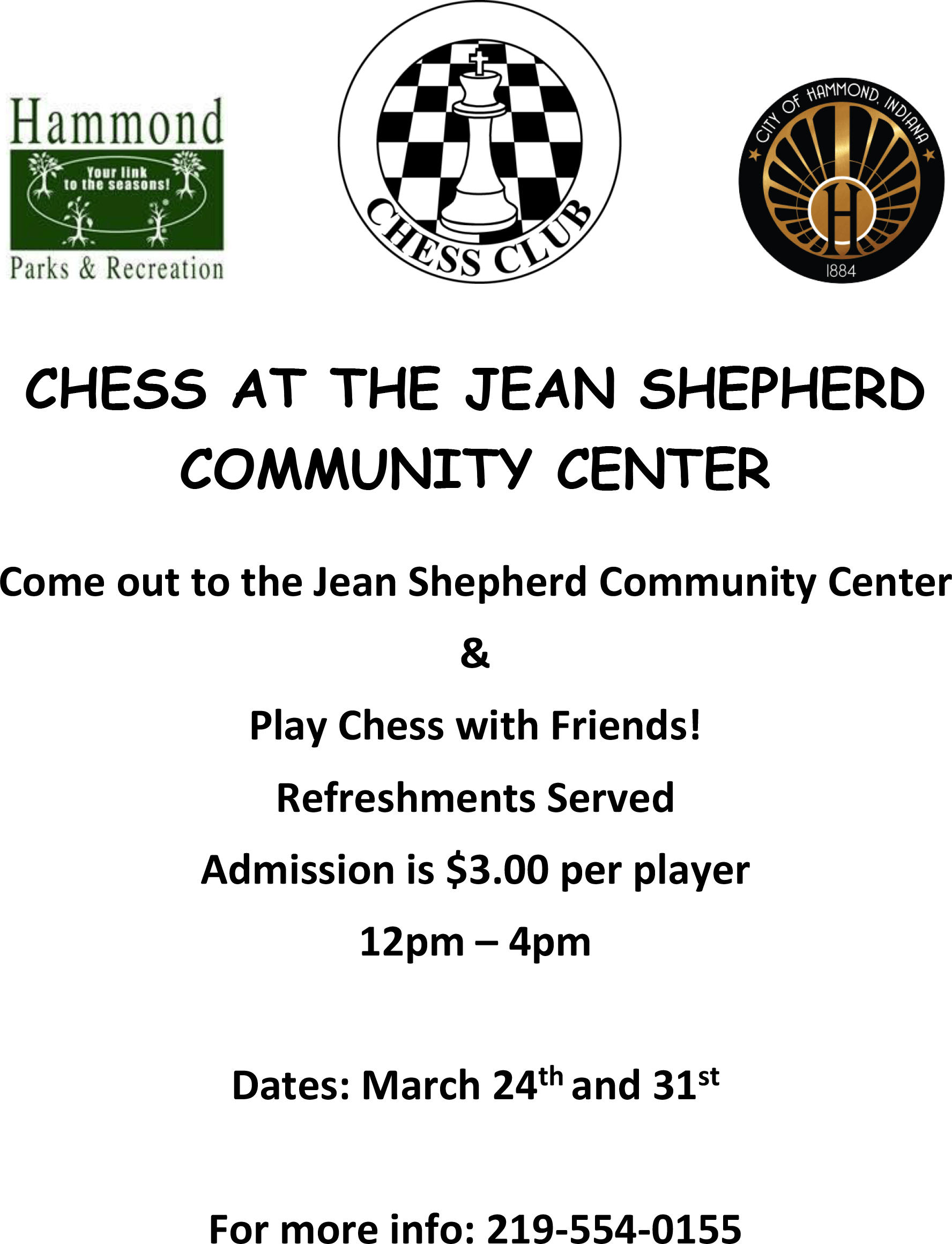 Open Chess at the Jean Shepherd Community Center