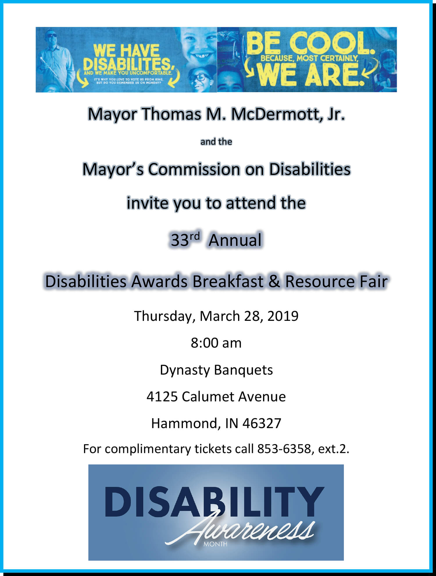 33rdAnnual Disabilities Awards Breakfast