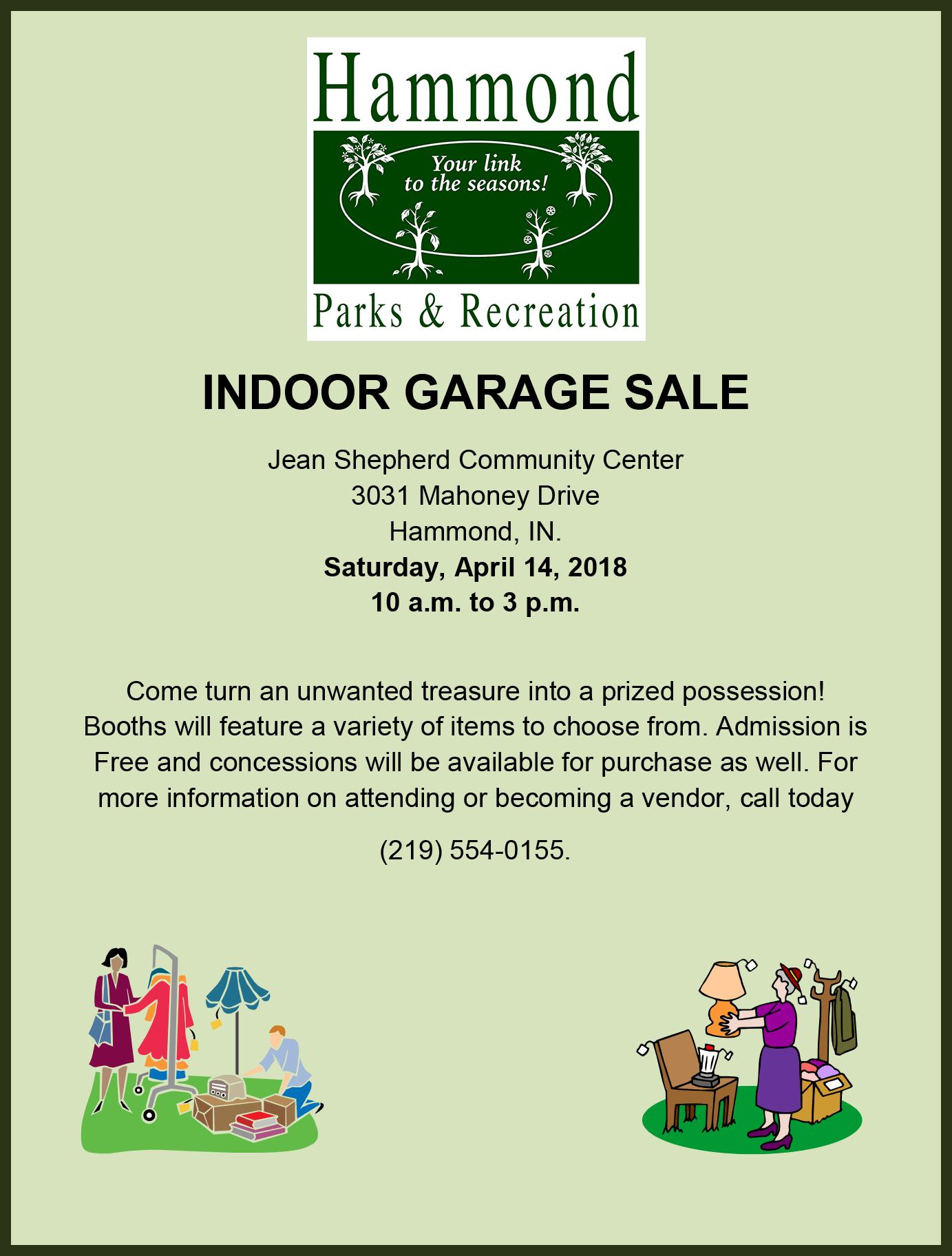 Spring Indoor Garage Sale