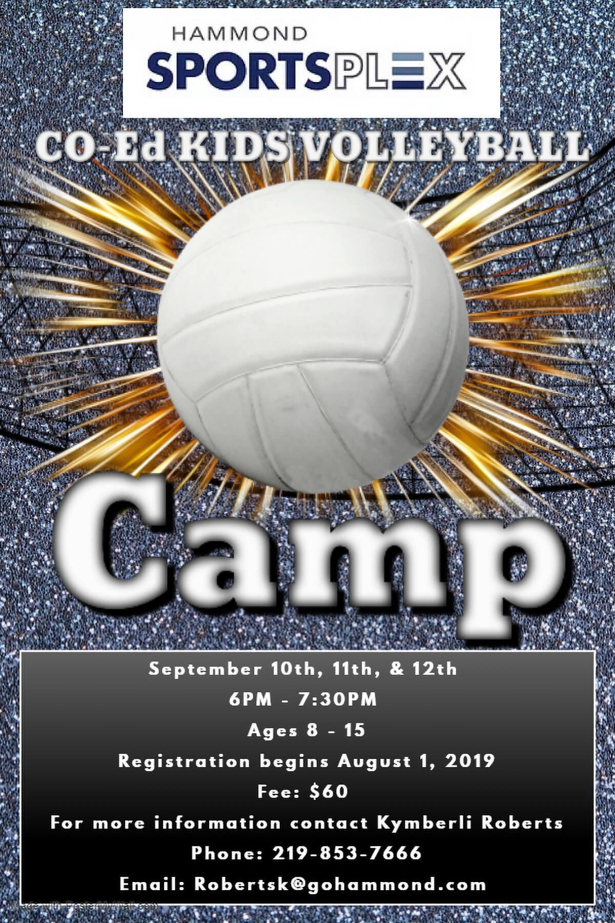 Hammond Sportsplex to Host Kids Volleyball Camp