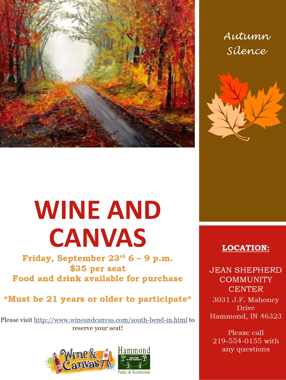 """Wine & Canvas"" Returns to Hammond in May"