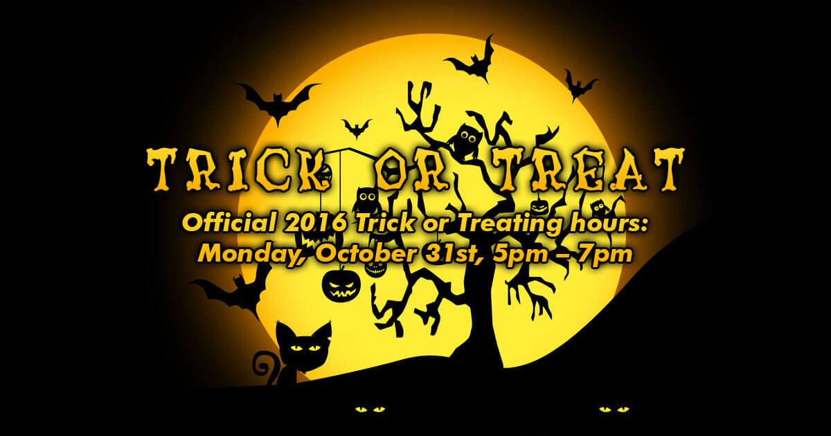 2018 Trick or treat times for New Hampshire towns and cities