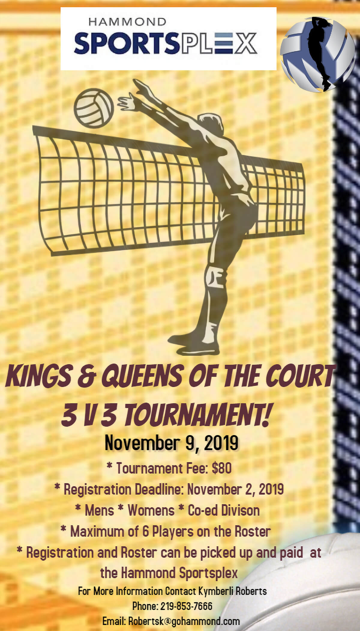 Hammond Sportsplex to Host 3 V 3 Volleyball Tourney