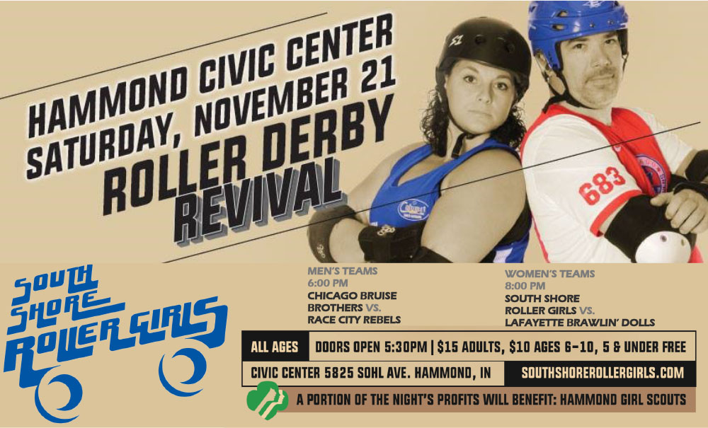 Roller Derby Revival at the Hammond Civic Center