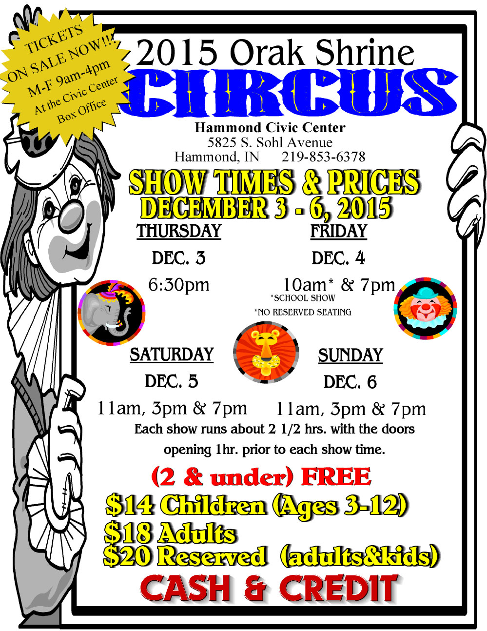 Orak Shrine Circus Returns to Hammond