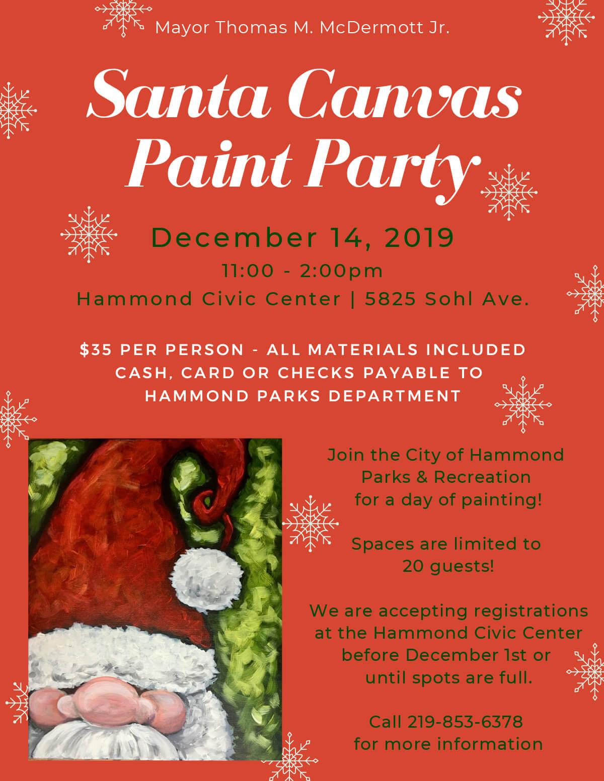 Santa Canvas Paint Party