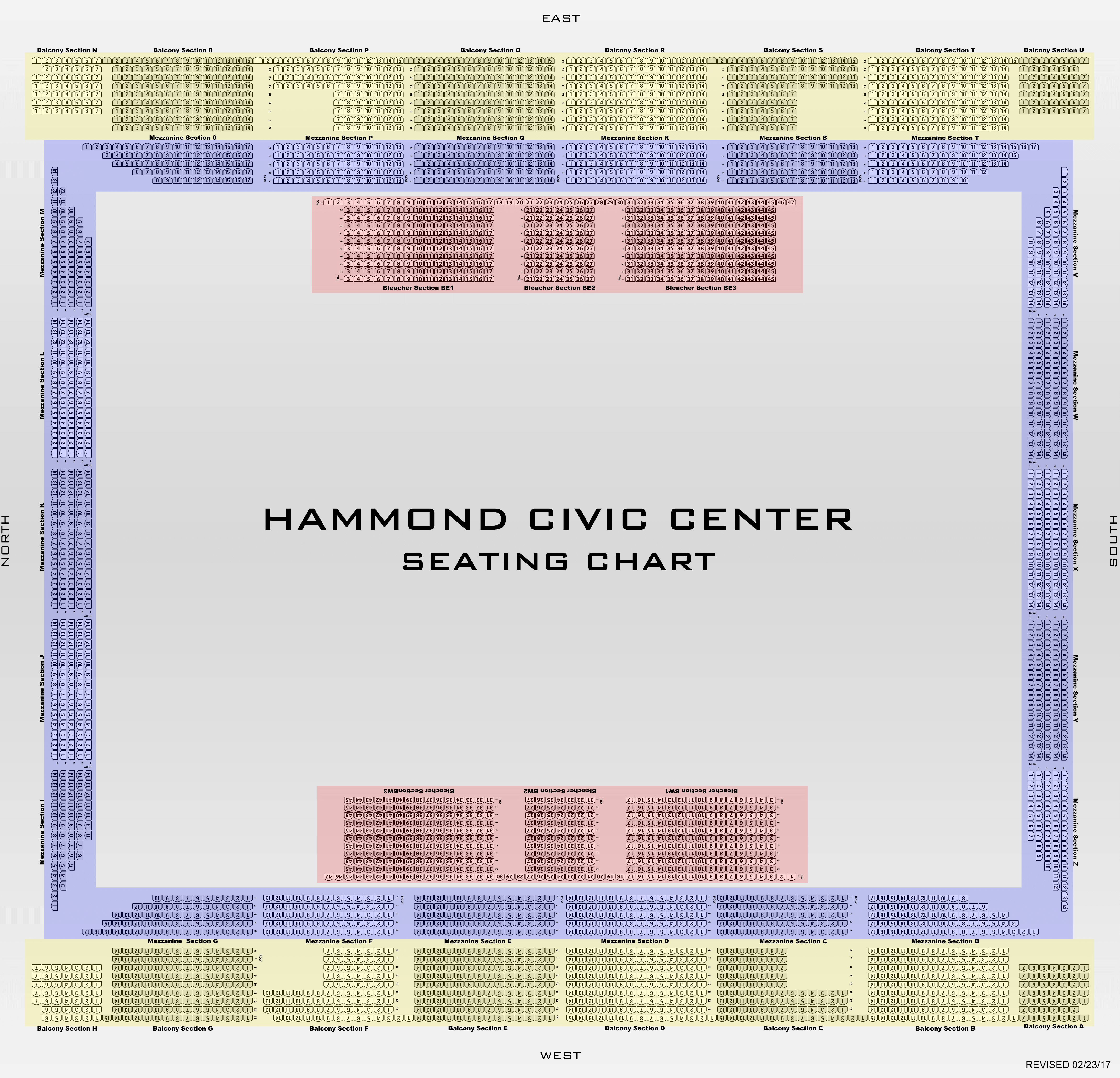 Hammond Civic Center Seating Chart