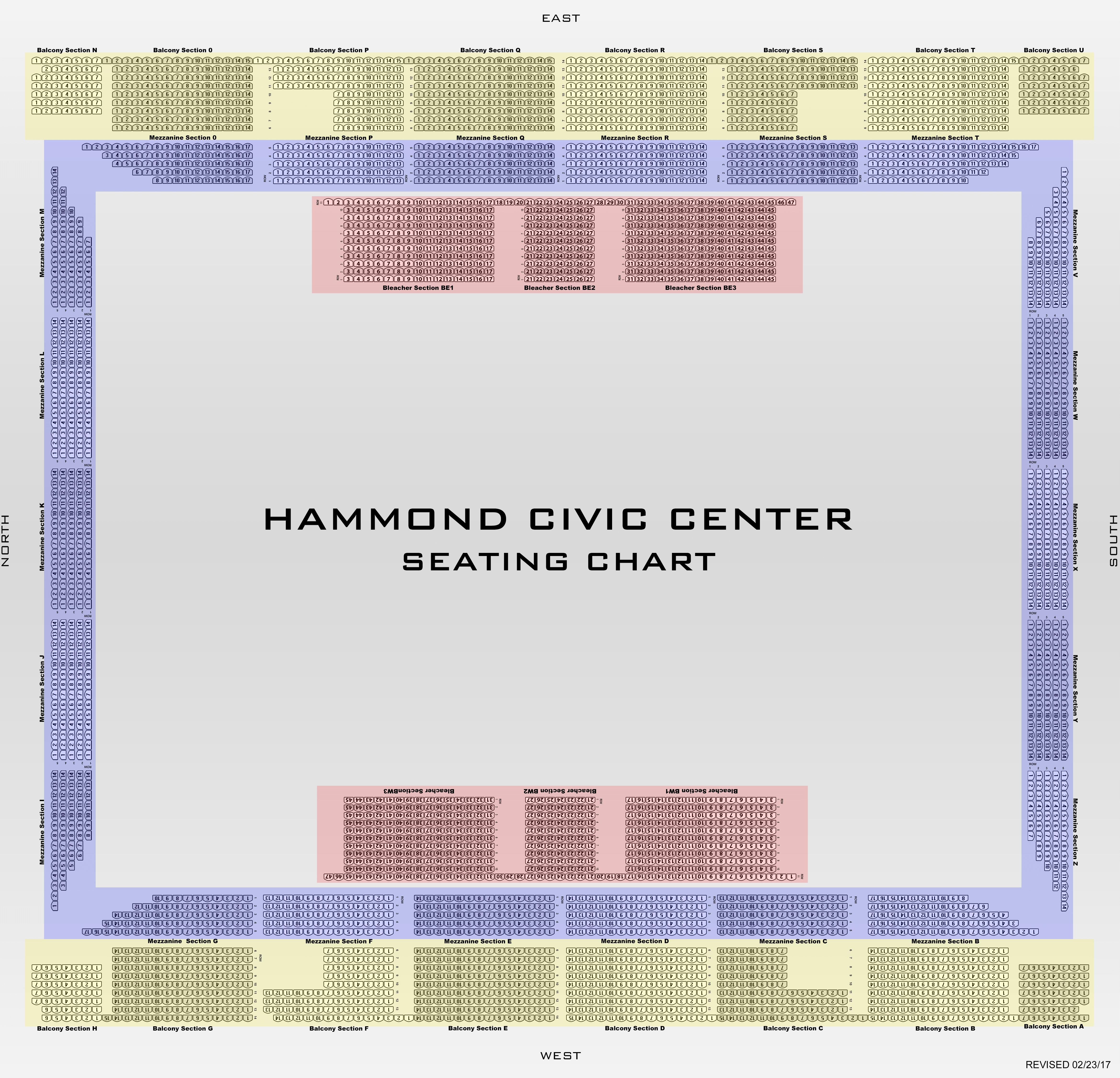 Hammond Civic Center Seating Chart