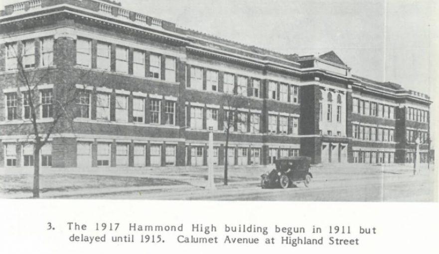 Hammond High front view, 1917
