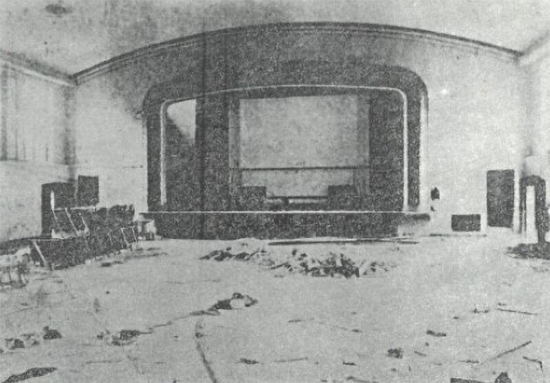 Addition of auditorium, 1922
