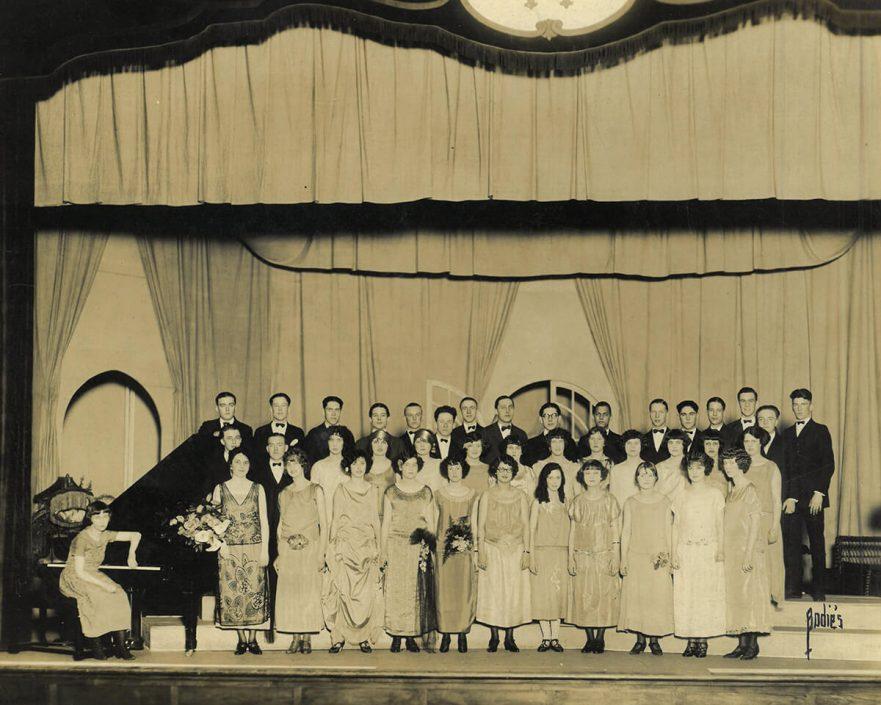 Chorus in Hammond High School auditorium, circa 1923