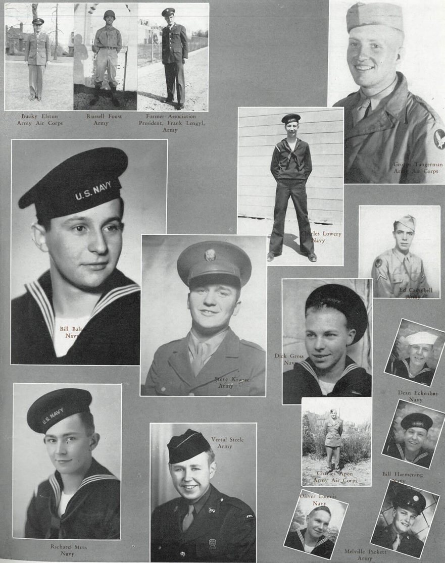 Senior Class of 1943, sent many boys to service