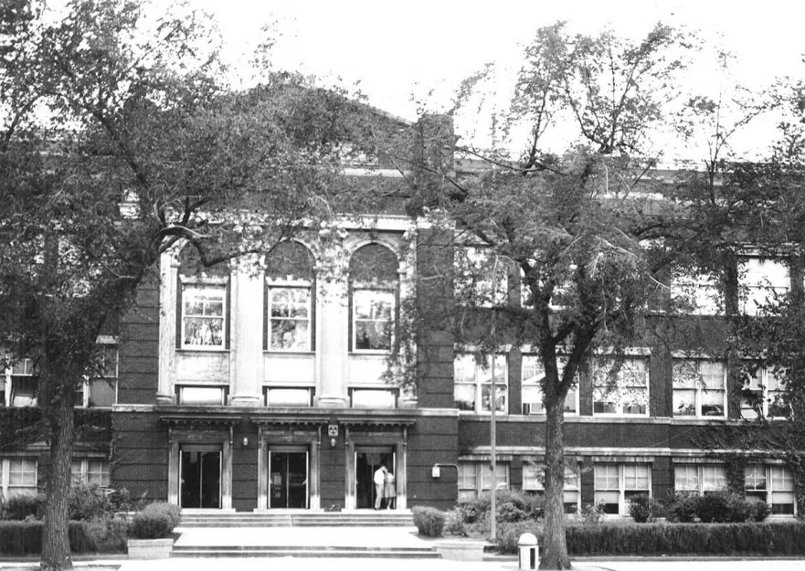 East side of building, circa 1950