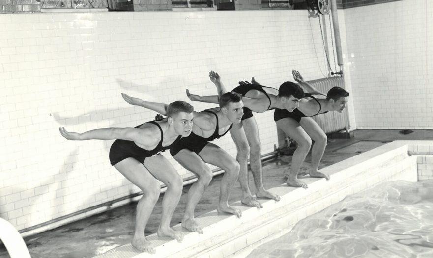 Boy's Swimming & Diving Champions, circa 1950