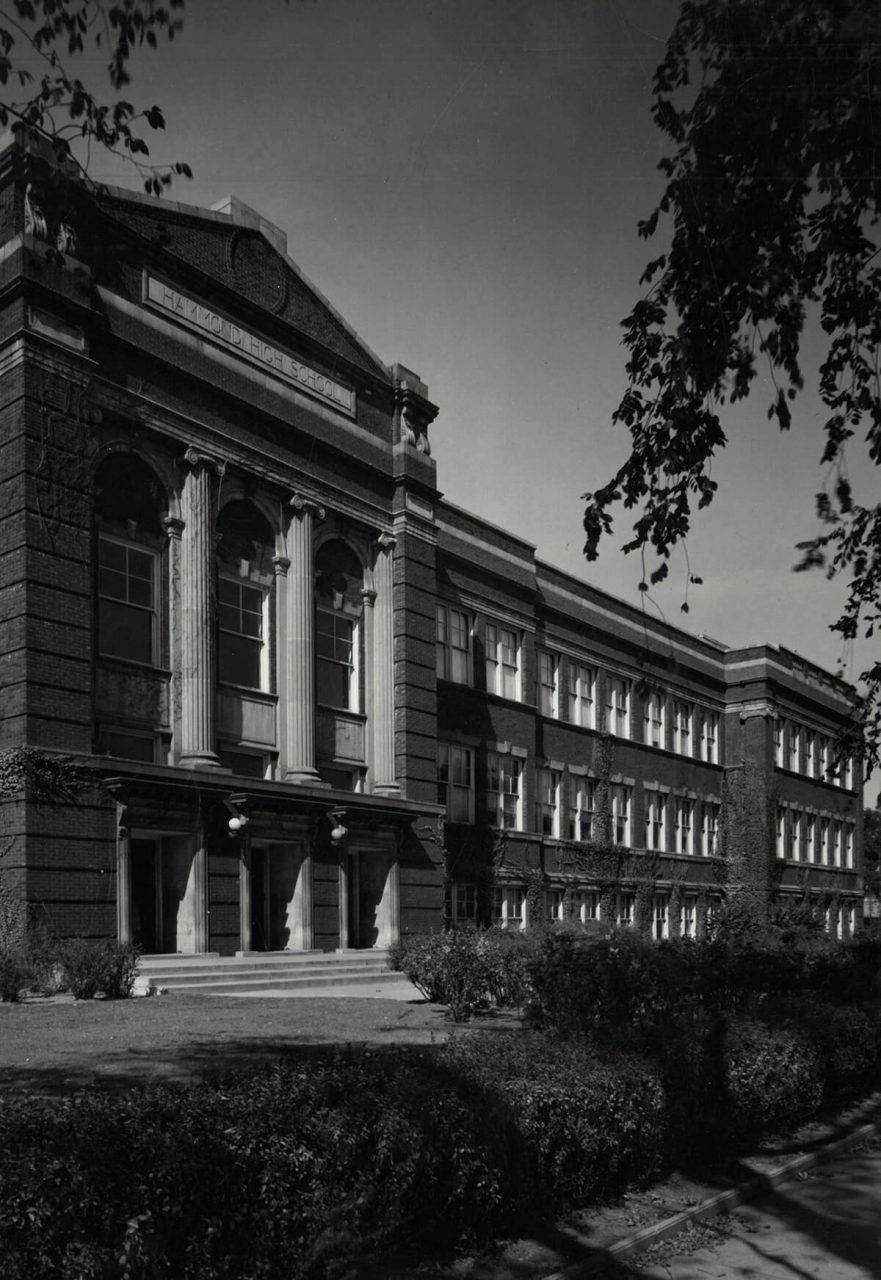 Front view, highlighting columns, 1965