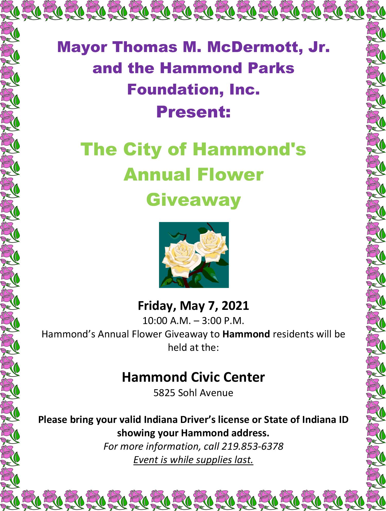 Hammond's 2021 Flower Giveaway